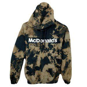 Vintage Authentic McDonald's Bleach Hoodie Men M